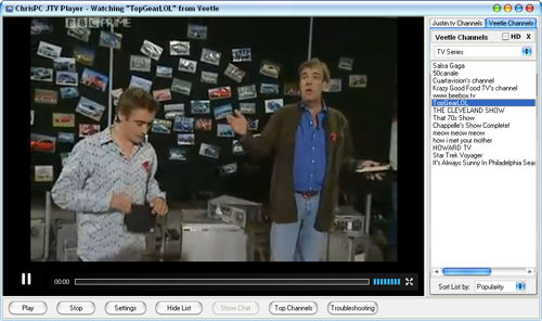 Top Gear in HD from Veetle - ChrisPC JTV Player